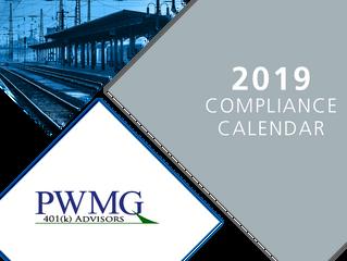 2019 Compliance Calendar