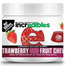 Incredibles Strawberry THC:CBD 1:1 Fruit Chews