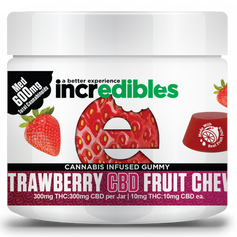 Incredibles Strawberry THC:CBD 1:1 Fruit Chews