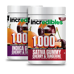 Incredibles 1000mg Sativa/Indica Gummies