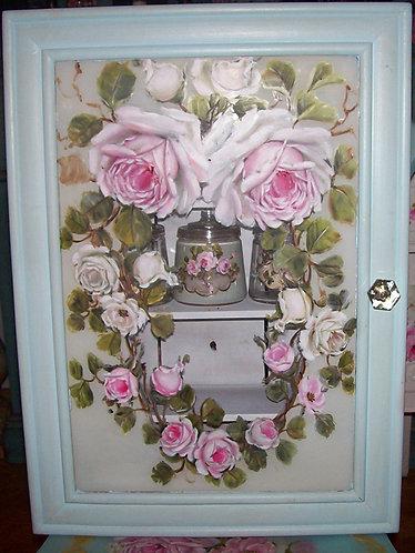 Vintage Light Blue Medicine Cabinet