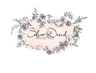 Floral Cartouche Black Sketch-Premade Lo