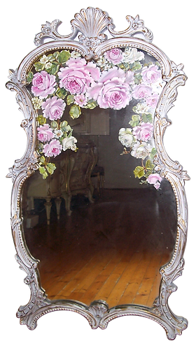 Gorgeous Antique Fancy French Mirror