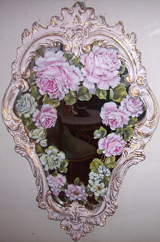 Gorgeous Antique French Ornate Mirror 1