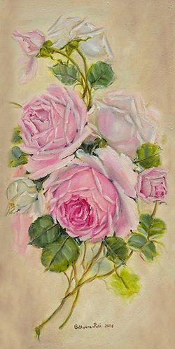 Pink Lace Roses Spray Right