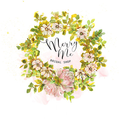 Shell Pink Floral Wreath-Premade Logo-70