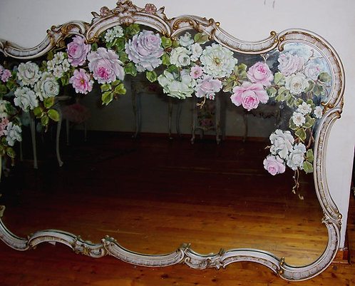 Antique  French Scrolls Large Mirror 1