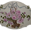 Thumbnail: Shabby Chic  Hand Painted Bow Rose Basket Plaque