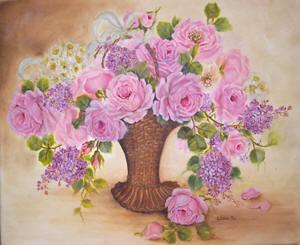 Sweet Garden Basket Roses