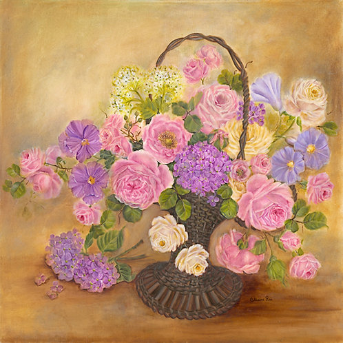 French Romance Flower Basket