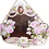 Thumbnail: Antique Barbola Roses and Cherubs Mirror