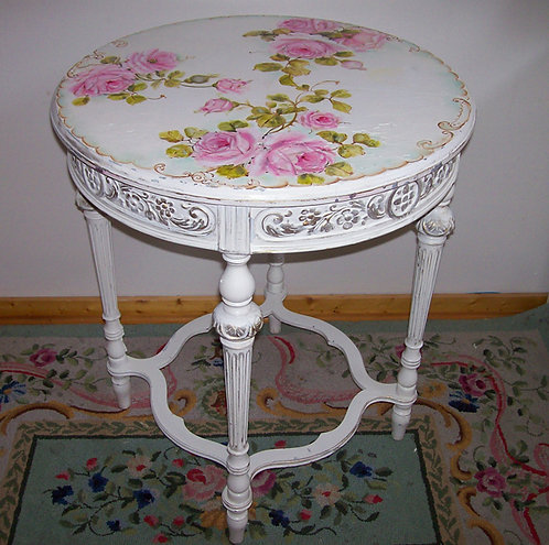 Vintage French Round Table