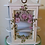 Thumbnail: Gorgeous antique Hand painted Roses Shabby Chic Glass Curio Wall Display Cabinet