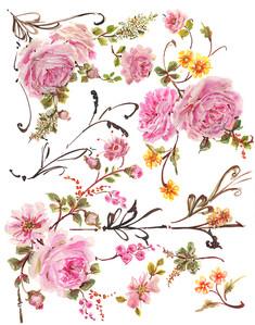 Bella Auriel Watercolor Floral Clipart