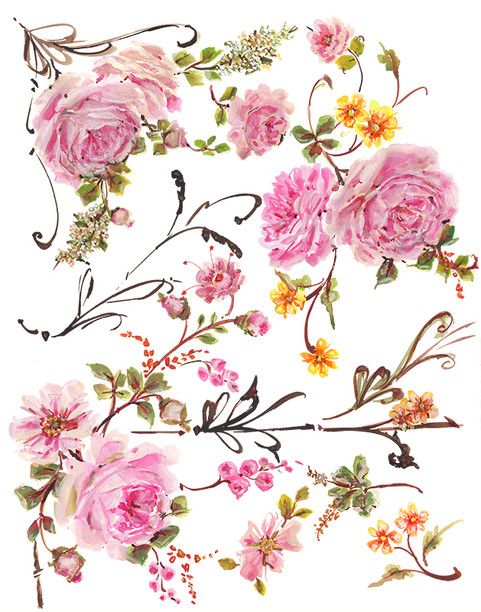 Bella Auriel Watercolor Floral Clipart
