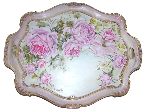 Gorgeous  Antique Florentine Ornate Tray