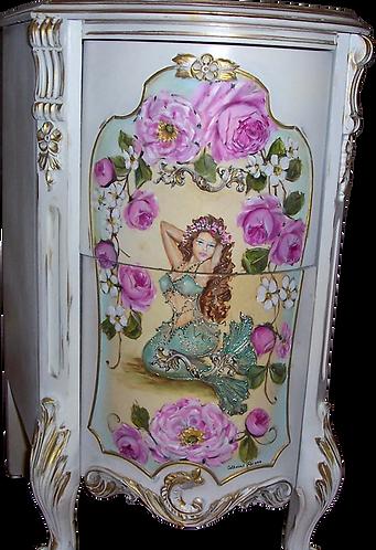 Fancy French Nightstand Table Mermaid