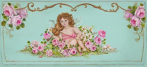Romantic Serenade Cherubs and Roses