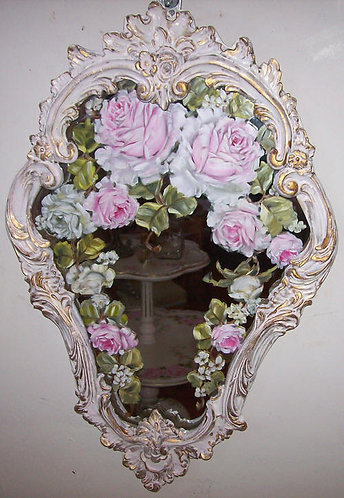 Gorgeous Antique French Ornate Mirror 2