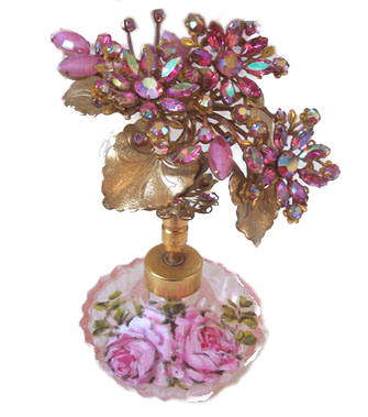 Flirty Flower  Bouquet Top Perfume Bottle