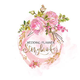 Storybook Wedding Watercolor Premade Logo-