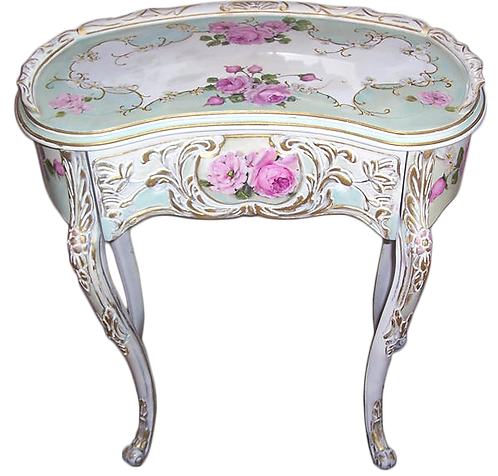 Ornate Antique French Vanity Accent Table