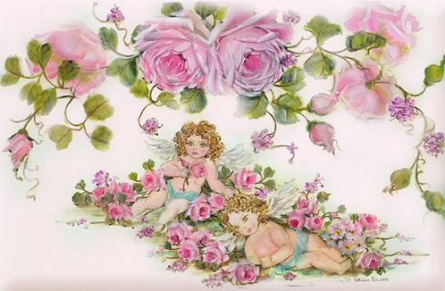 Enchanted Dreams Cherubs and Roses