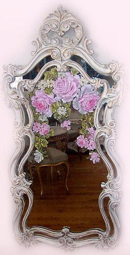 Vintage  Rococo Ornate Long Mirror