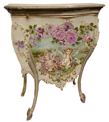 French Commode Cherubs and Roses