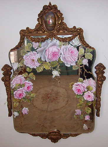 Gorgeous Antique French Gilt Mirror