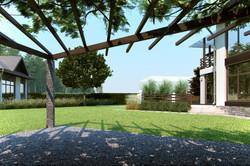 Дизайн частного сада 18 соток