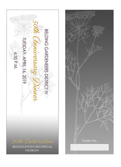 50th Anniversary ticket, front/back