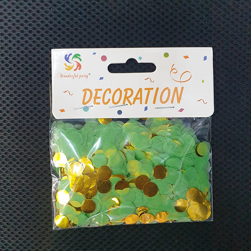 Green and Gold Confetti