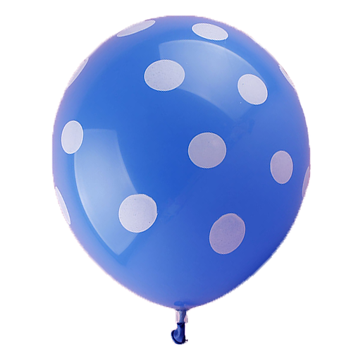 Blue Polka Balloon