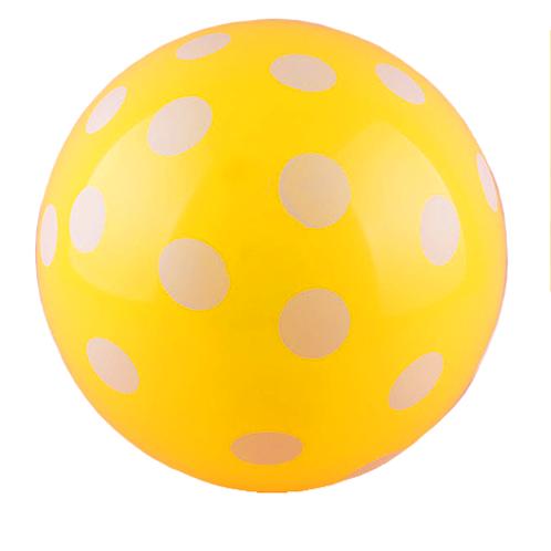 Yellow Polka Balloon