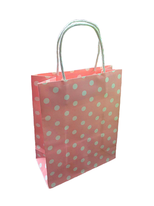 Pink Polka Paper Bag