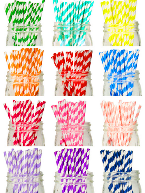 Stripes Paper Straw