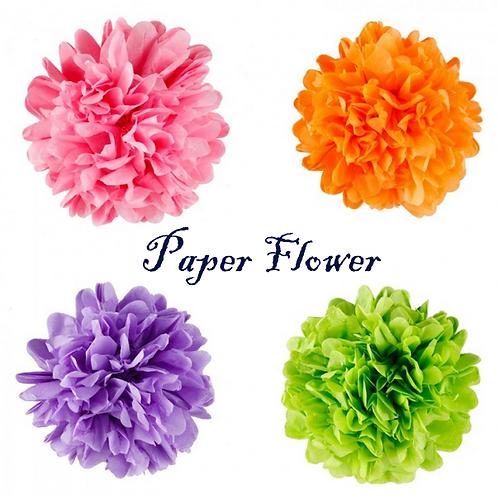 Paper Pom Poms Lantern