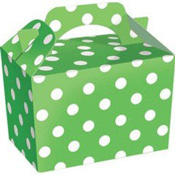 Green Polka-Dot Party Box