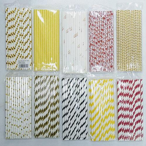 Printed Paper Straws