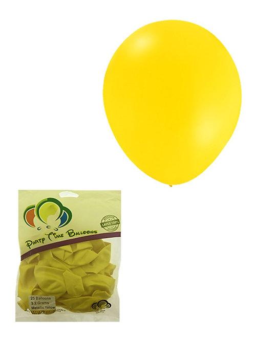 Yellow Metallic Balloon