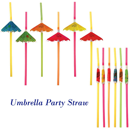 Umbrella Plastic Straw