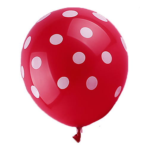 Red Polka Balloon