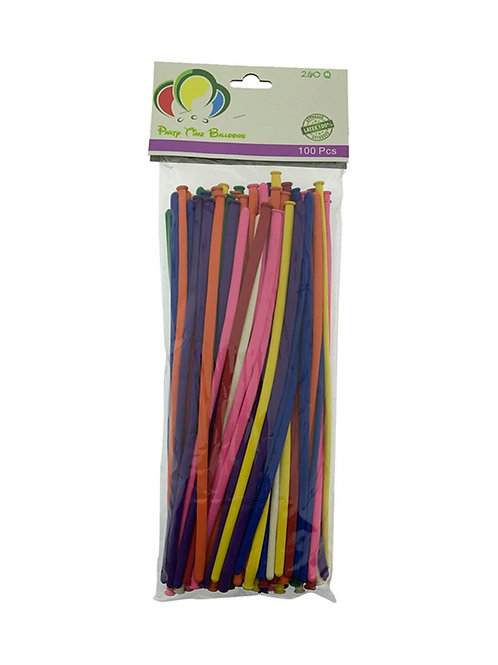 Assorted Color Long Balloons