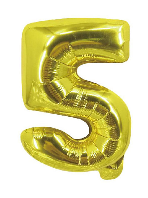 5 Number Foil Balloons