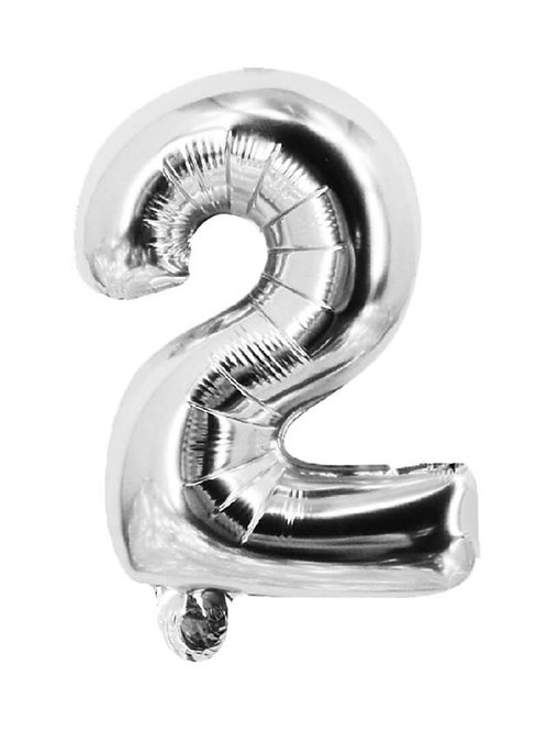 2 Number Foil Balloons