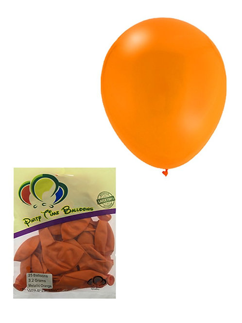 Orange Metallic Balloon