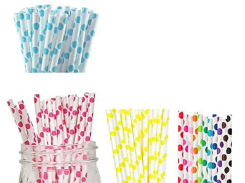 Polka Paper Straw