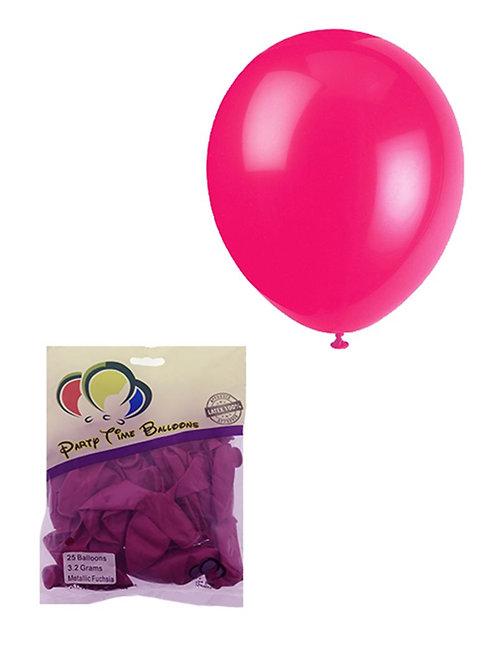 Fuschia Pink Metallic Balloon