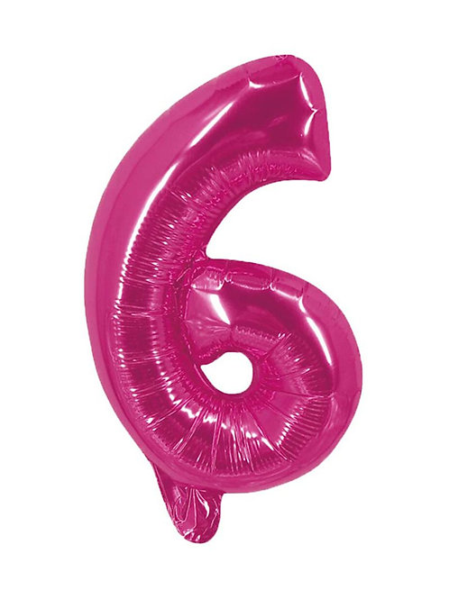 6 Number Foil Balloons